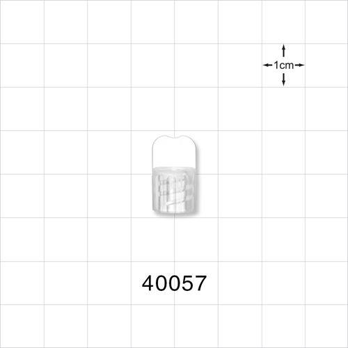 Vented Male NRFit™ Cap, Clear - 40057