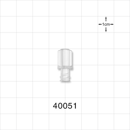 Female NRFit™ Connector, Clear - 40051