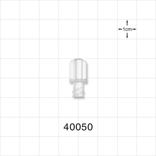 Female NRFit™ Connector, Clear - 40050
