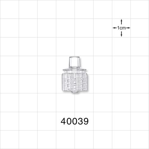 Male ENFit® Connector, Clear - 40039