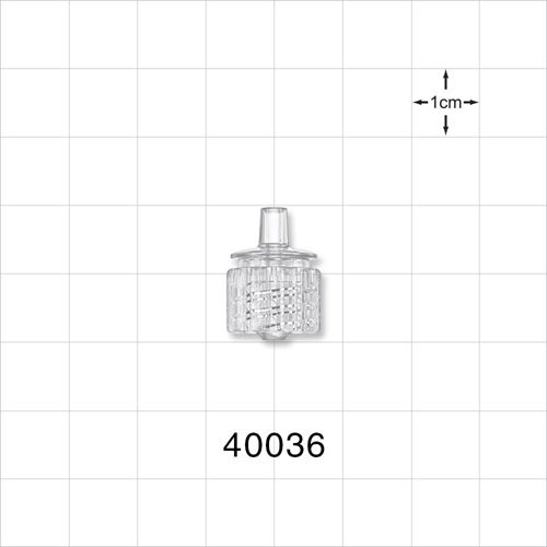 Male ENFit® Connector, Clear - 40036