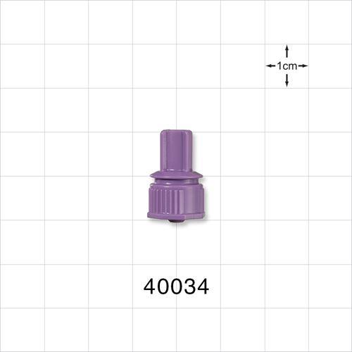Male ENFit™ Connector, Purple - 40034