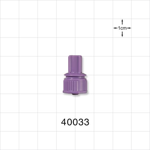 Male ENFit™ Connector, Purple - 40033