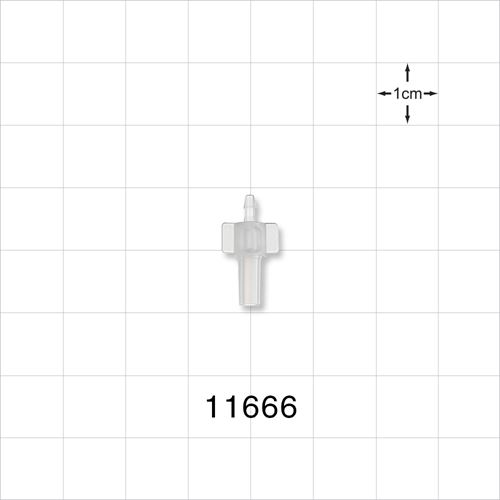 Male Luer Slip to Barb Connector - 11666