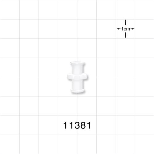 Female to Female Luer Lock Connector, White - 11381
