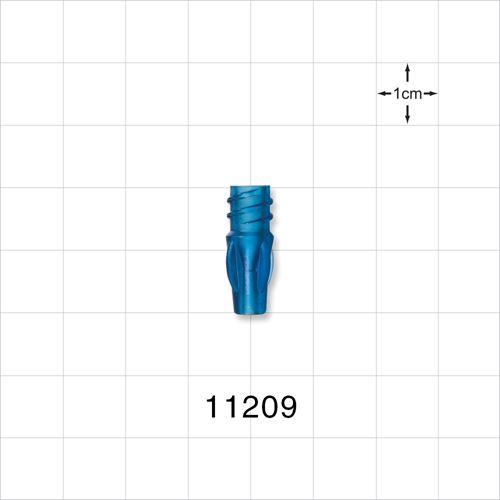 Female Luer Lock with Finger Grips, Blue - 11209