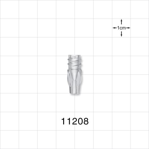 Female Luer Lock with Finger Grips, Clear - 11208