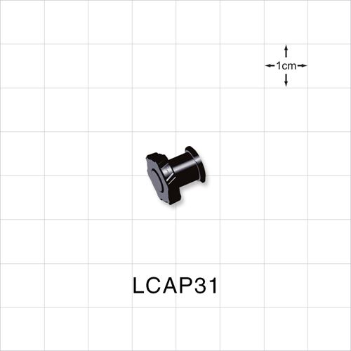 Female Luer Cap, Black - LCAP31