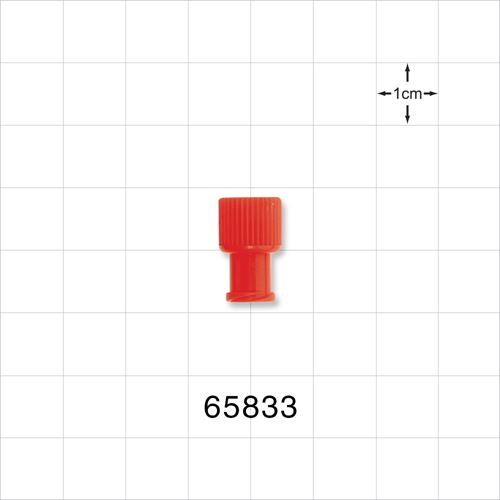 Non-Vented Double Ended Cap, Male/Female, Red - 65833