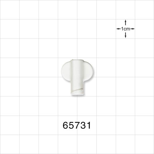 Non-Vented Female Luer Lock Cap with Wings, White - 65731
