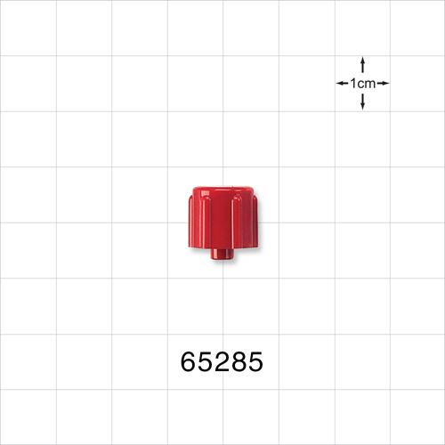 Non-Vented Male Luer Cap, Red - 65285