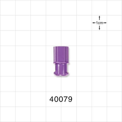 Female ENFit® Cap, Non-Vented, Purple - 40079