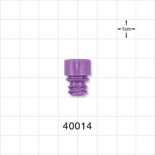 ENFit® Oral Adapter Cap, Non-Vented, Purple - 40014
