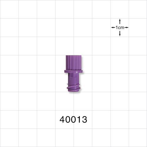 Non-Vented Female Luer Lock Cap, Purple - 40013