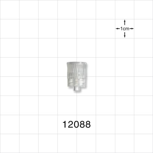 Vented Male Luer Cap, with 3 Micron Hydrophobic Filter - 12088