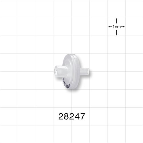 Hydrophobic Filter with Female Luer Lock Inlet, Male Luer Slip Outlet - 28247