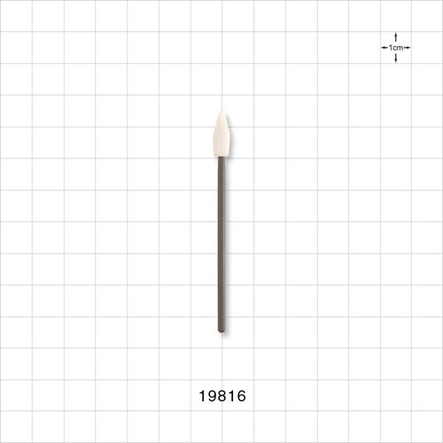 Precision Swab with Spear Shaped Tip and Tapered Grey Handle - 19816
