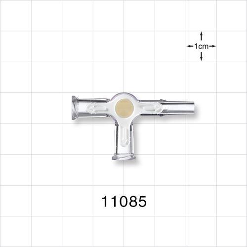 4-Way Stopcock, 2 Female Luer Locks, Male Luer Slip - 11085