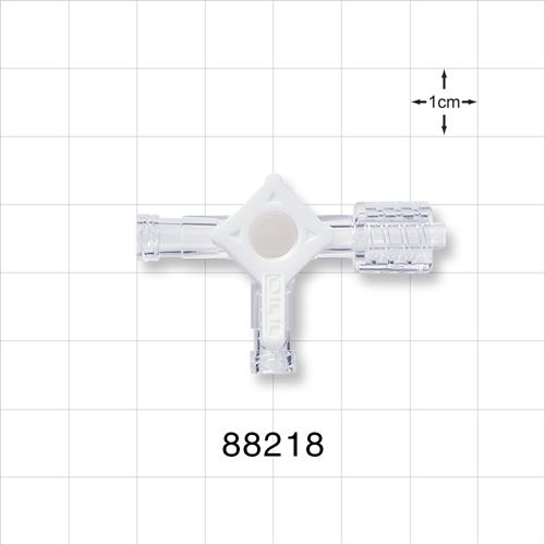 4-Way Stopcock, 2 Female Luer Locks, Swivel Male Luer Lock - 88218
