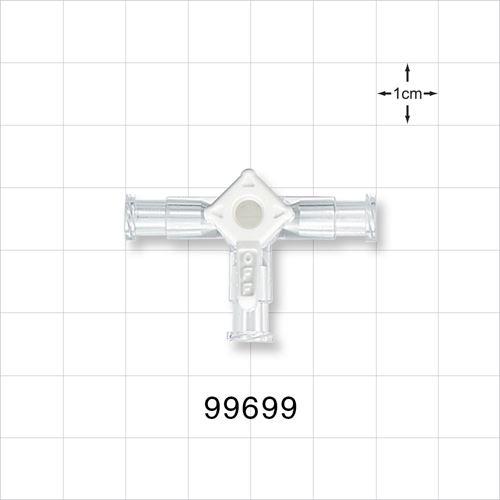 3-Way Stopcock, 3 Female Luer Locks - 99699