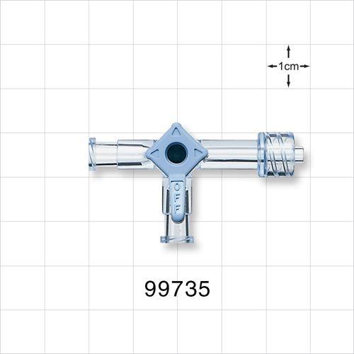 3-Way Stopcock, 2 Female Luer Locks, Male Luer Lock - 99735
