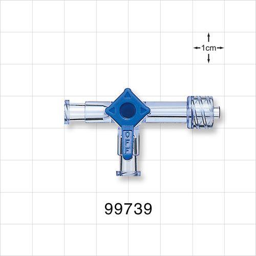 3-Way Stopcock, 2 Female Luer Locks, Male Luer Lock - 99739