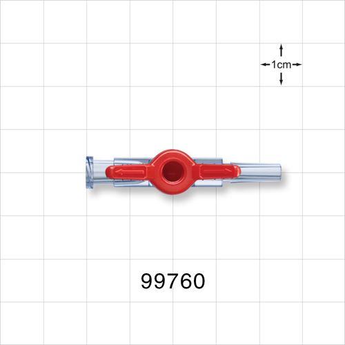 1-Way Stopcock, Female Luer Lock, Male Luer Slip - 99760
