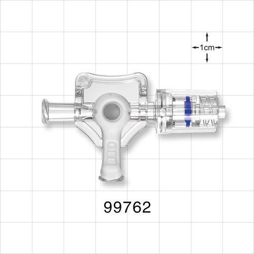 3-Way Stopcock, 2 Female Luer Locks, Rotating Male Luer Lock - 99762