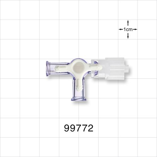 4-Way Stopcock, 2 Female Luer Locks, Rotating Male Luer Lock - 99772