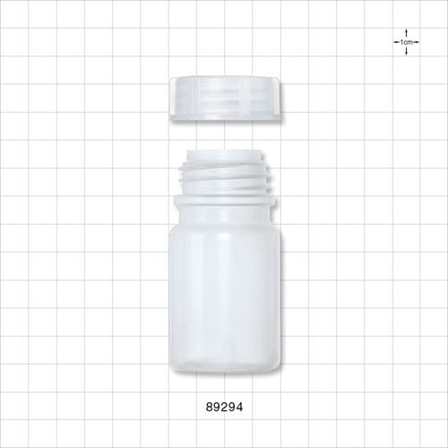 White Neck Bottle with Screw Cap - 89294
