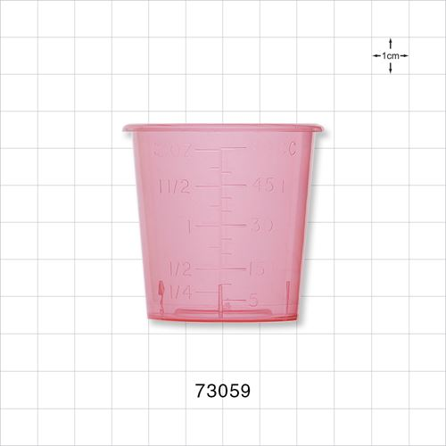 Medicine Cup, Red - 73059