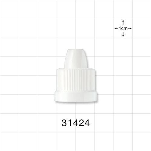 Child-Resistant Cap for Dropper Bottle, White - 31424