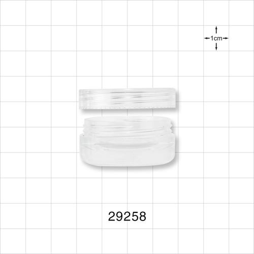 5ml Clear Double Wall Jar & Clear Cap - 29258