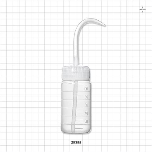 Wide-Mouth Wash Bottle with Curved Dispensing Tip, Natural - 29398