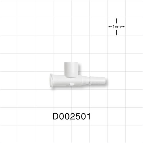 T Pressure Relief Valve, Female Luer Lock Inlet, Male Luer Slip Outlet - D002501