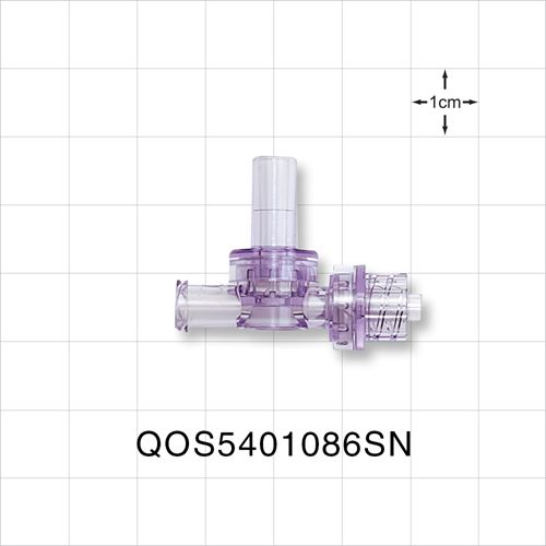 Dual Check Valve, Female Luer Slip Inlet, Male Luer Lock Outlet, Female Luer Lock Control Port - QOS5401086SN