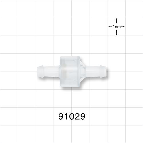 High Flow Check Valve, Barbed - 91029