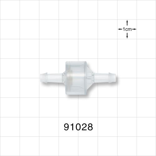 High Flow Check Valve, Barbed - 91028