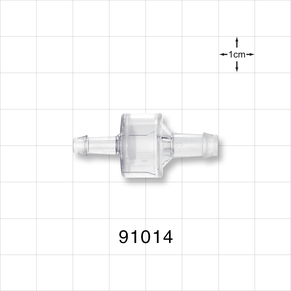 High Flow Barbed Check Valve - 91014 | Qosina