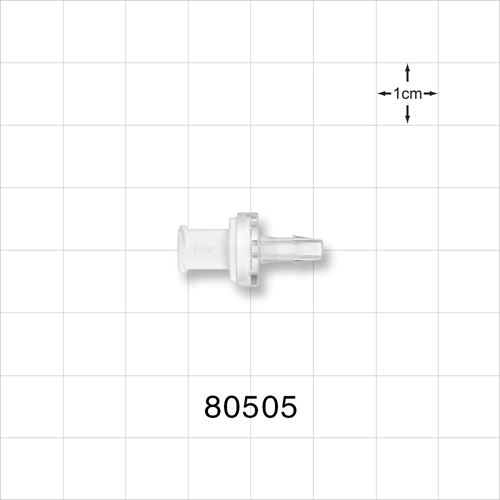 Check Valve, Female Luer Lock Inlet, Barbed Outlet - 80505