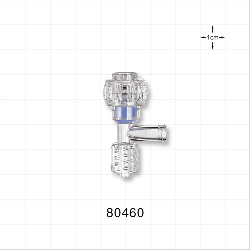 Tuohy Borst Adapter, Swivel Male Luer Lock, Female Luer Lock Sideport - 80460