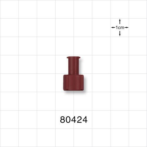 Tuohy Borst Adapter Cap, Red, Female Luer Lock - 80424