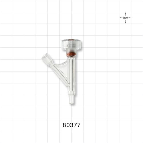 Hemostasis Valve Y Connector, Male Luer Slip, Female Luer Lock Sideport - 80377