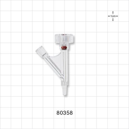 Hemostasis Valve Y Connector, Male Luer Slip, Female Luer Lock Sideport - 80358
