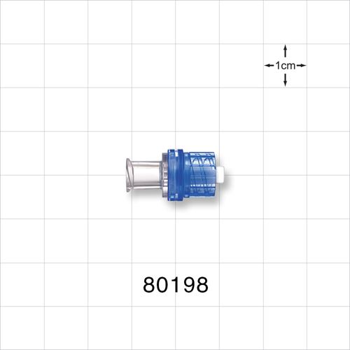 Check Valve, Female Luer Lock Inlet, Male Luer Lock Outlet; Coated Stem - 80198