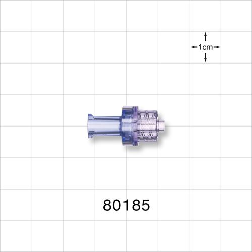 Check Valve, Female Luer Lock Inlet, Male Luer Lock Outlet - 80185