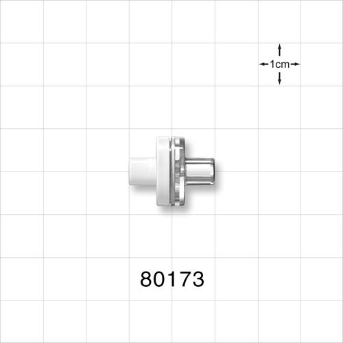 Check Valve, White Inlet, Clear Outlet - 80173