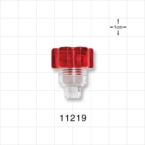 Tuohy Borst Adapter, with Red Flat Cap, Small Body - 11219