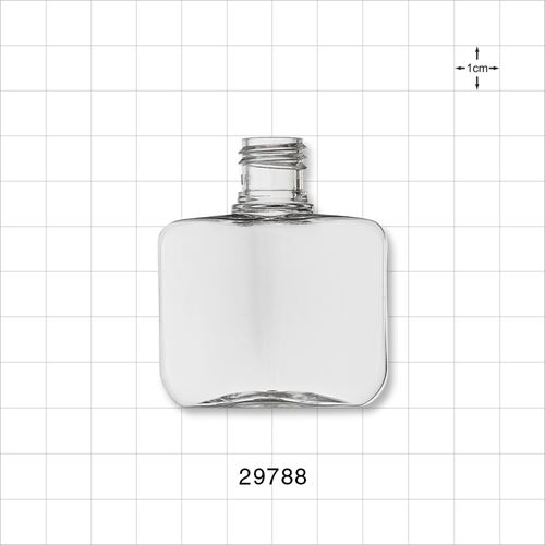 Square Bottle, Clear - 29788