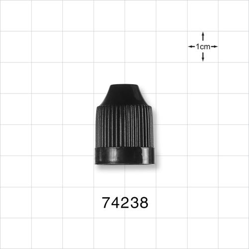 Ribbed Child-Resistant Screw Cap, Black for 74225 and 74226 - 74238
